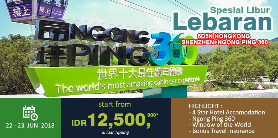 6D/5N HONG KONG SHENZHEN + NGONG PING 360